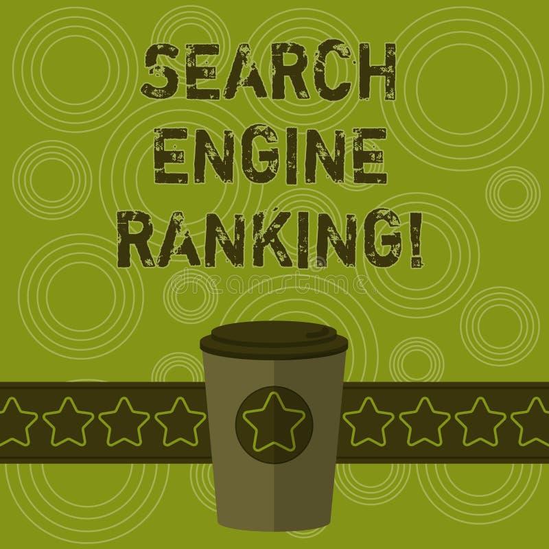 写笔记陈列搜索引擎等级 站点出现于搜索引擎询问3D的企业照片陈列的等级 库存例证