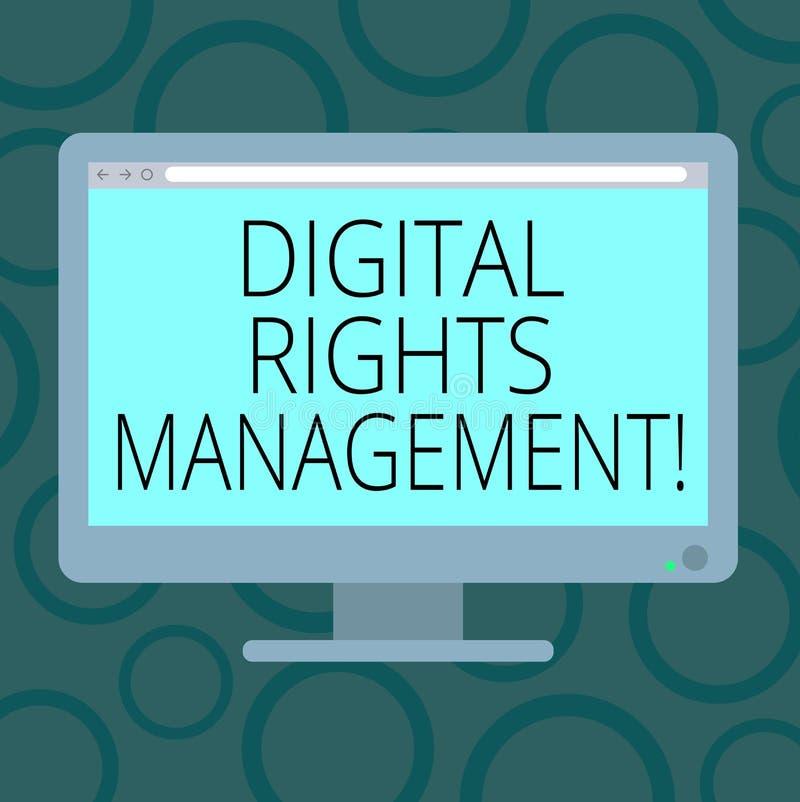 写笔记陈列数字权利管理 复制权数字媒介空白的保护的企业照片陈列的方法 皇族释放例证