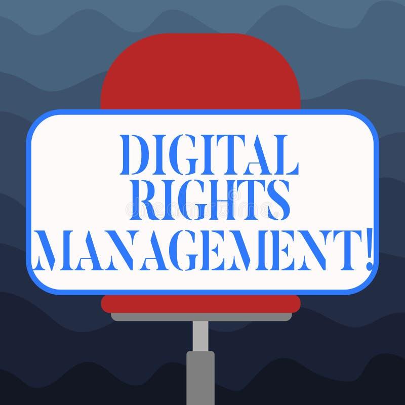 写笔记陈列数字权利管理 复制权数字的保护的企业照片陈列的方法 库存例证