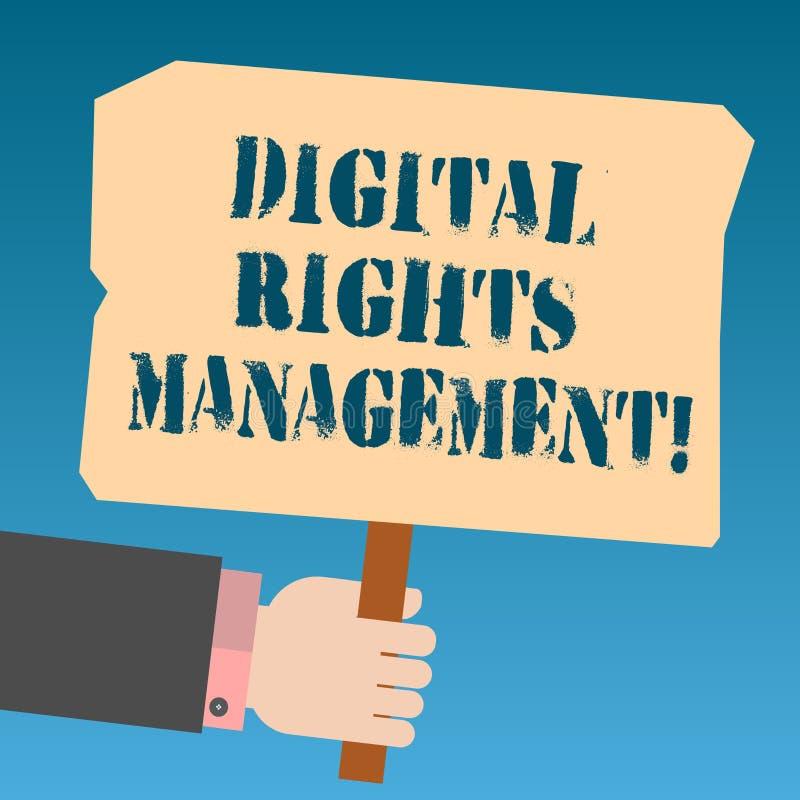 写笔记陈列数字权利管理 复制权数字的保护的企业照片陈列的方法 皇族释放例证