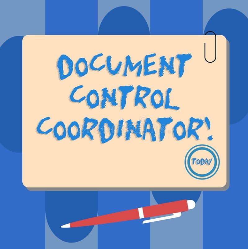 写笔记陈列文件控制协调员 企业照片陈列的analysisaging的和控制公司 库存例证
