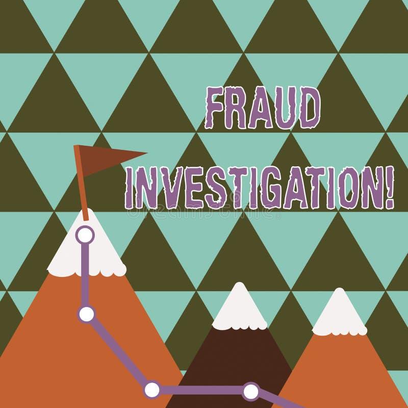 写笔记陈列欺骗调查 确定诈欺是否的企业照片陈列的过程采取了 库存例证