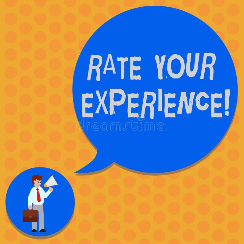 写笔记陈列率您的经验 企业照片陈列评估您使人获得的知识或技巧 向量例证