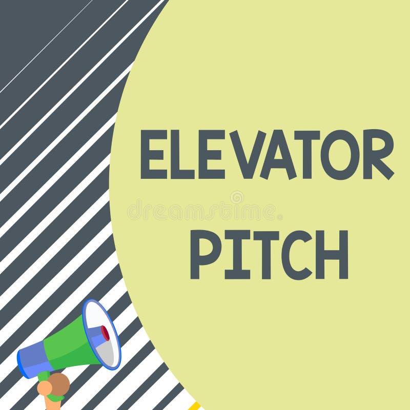 写笔记陈列电梯沥青 企业照片陈列令人信服的销售摊点简要的讲话关于产品 库存例证