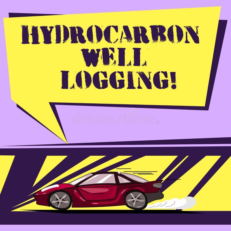写笔记陈列碳氢化合物钻井测试 一辆钻孔汽车的地质结构的企业照片陈列的纪录与 向量例证