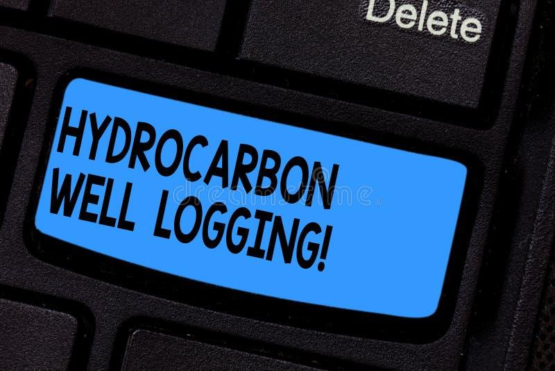 写笔记陈列碳氢化合物钻井测试 钻孔键盘的地质结构的企业照片陈列的纪录 皇族释放例证