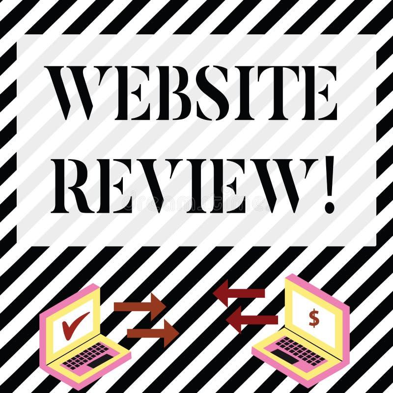 写笔记陈列网站回顾 陈列对企业的用户额定值和评估的企业照片或 向量例证