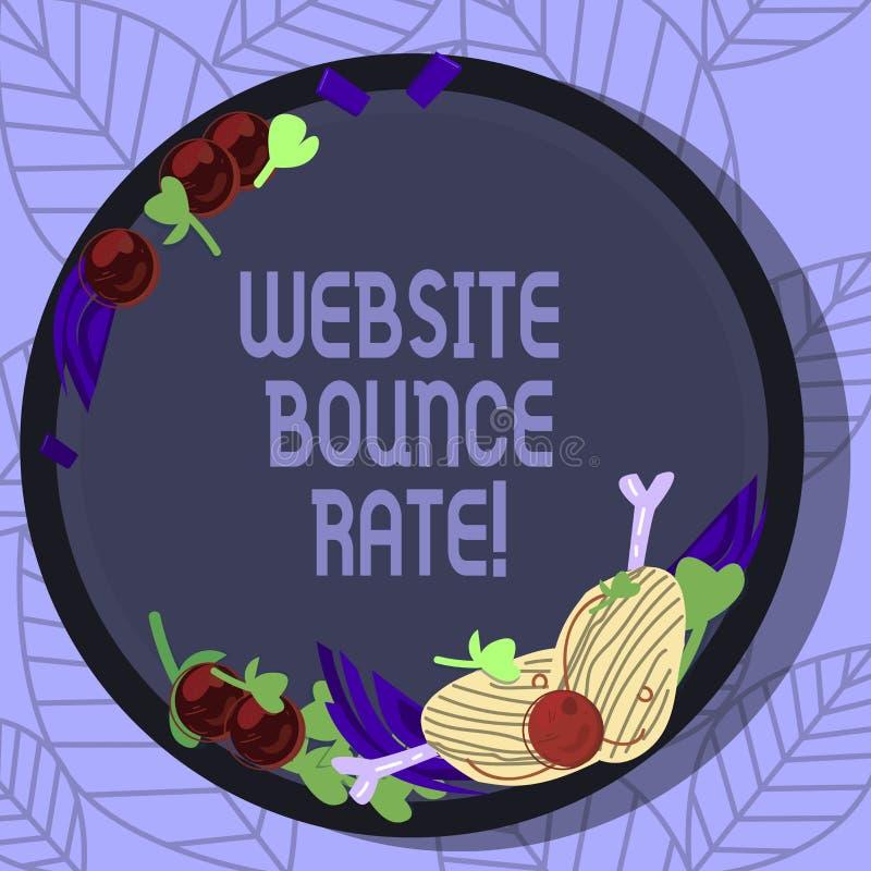 写笔记陈列网站跳动率 用于网交通分析的企业照片陈列的互联网市场术语 向量例证