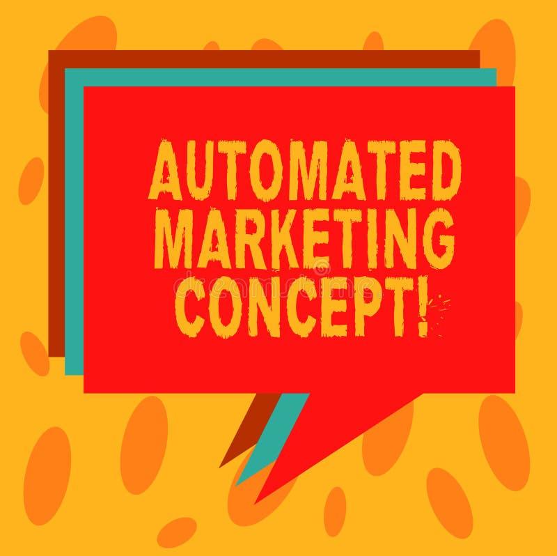 写笔记陈列自动化的营销概念 企业照片陈列自动化反复任务例如电子邮件 皇族释放例证