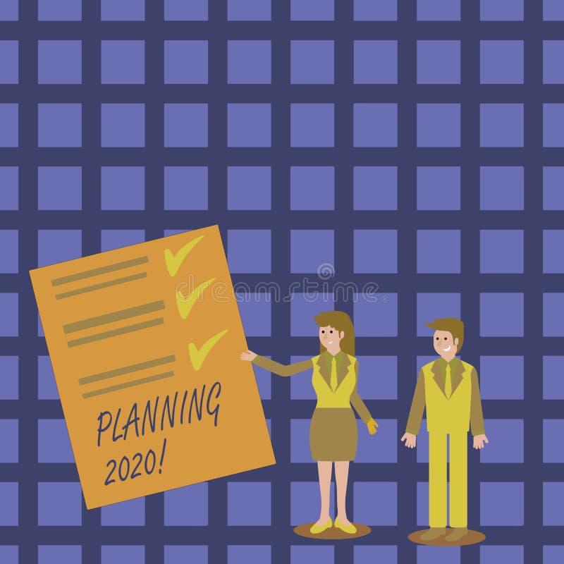 写笔记陈列计划2020年 做某事的计划明年人的企业照片陈列的过程和 库存例证