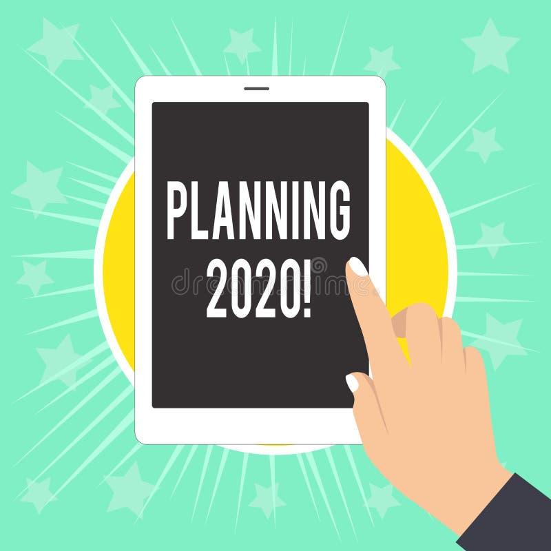 写笔记陈列计划2020年 明年使某事的计划的企业照片陈列的过程女性 库存例证