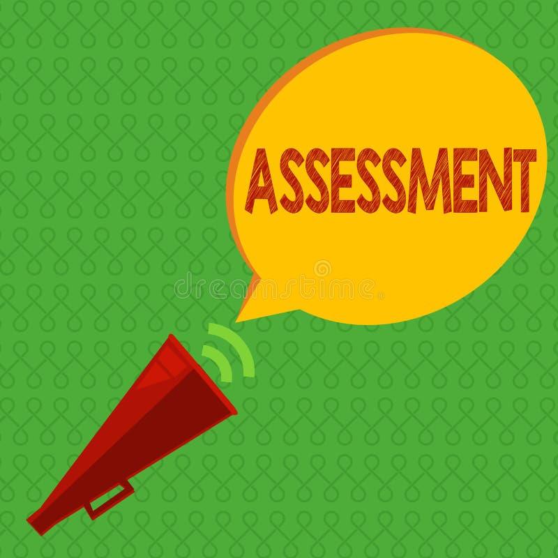 写笔记陈列评估 陈列企业的照片判断某事的决定的数额价值质量重要性 库存例证