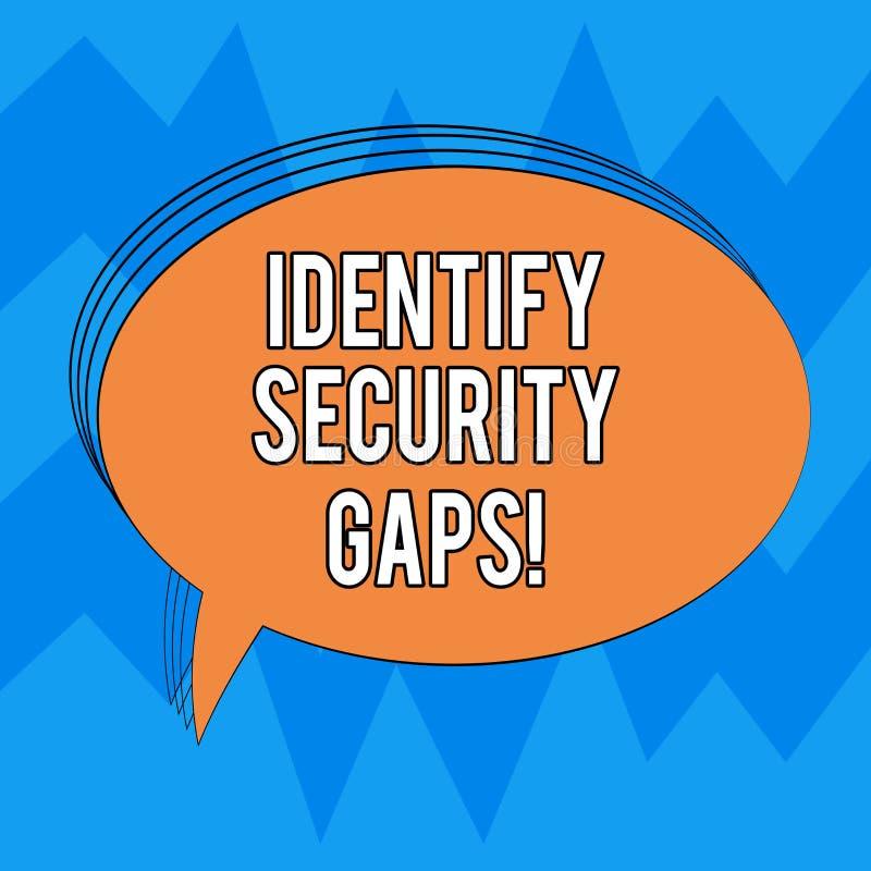 写笔记陈列辨认安全空白 陈列企业的照片确定到位控制是否是 库存例证