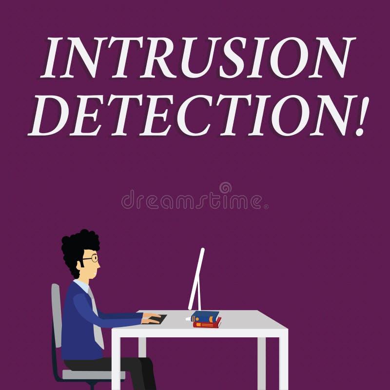 写笔记陈列闯入侦查 企业照片陈列监测一个网络或系统恶意活动的 皇族释放例证