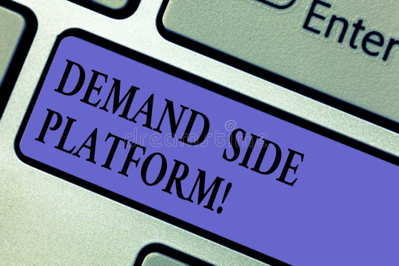 写笔记陈列Deanalysisd旁边平台 为纲领性广告使用的企业照片陈列的软件 免版税库存照片