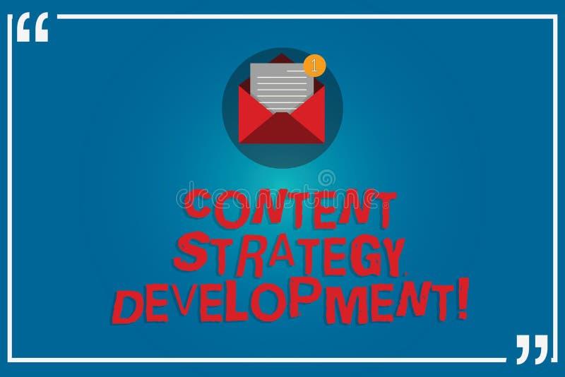 写美满的战略发展的手写文本 制定营销内容的概念意思有些目标开放 皇族释放例证