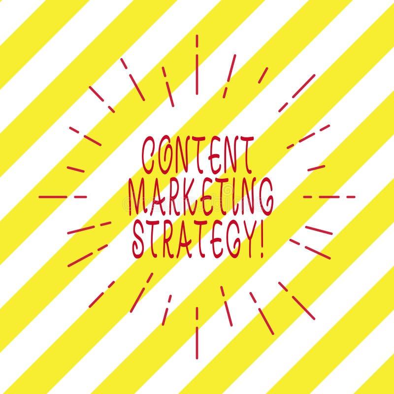 写美满的营销策略的手写文本 对目标观众网上稀薄的射线的概念意思分布的内容 库存图片