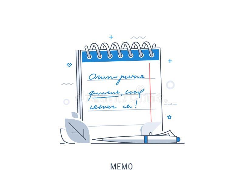 写计划目录在笔记本 免版税库存图片