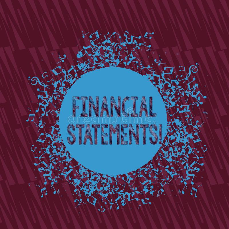 写财政技术的手写文本 提供金融服务的概念意思通过利用软件 库存例证