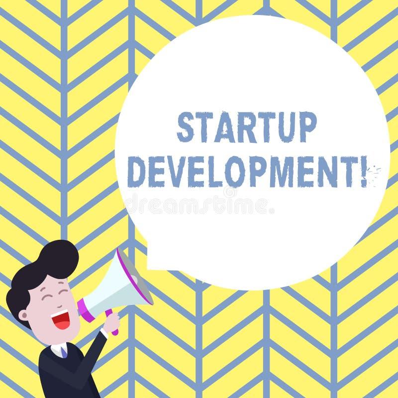 写起始的发展的手写文本 高效率地意味的概念开发和确认可升级的业务模式 向量例证