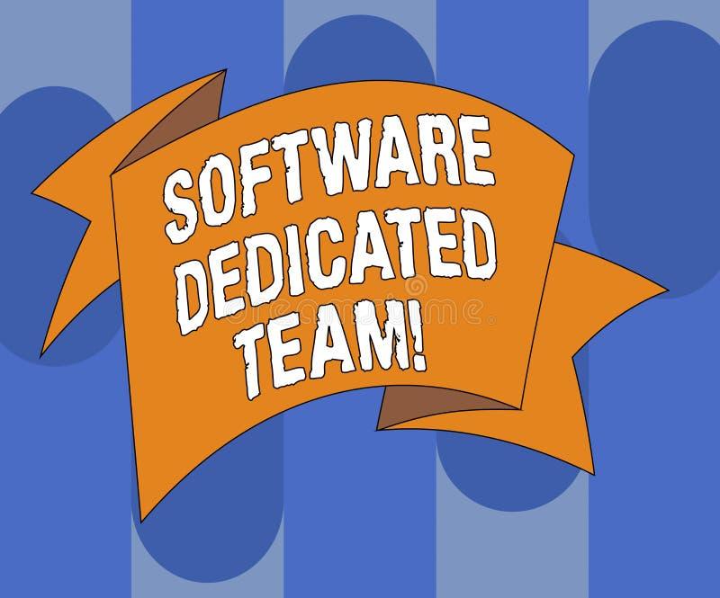 写软件热忱的队的手写文本 概念意思对应用程序和网发展被折叠的3D的企业方法 库存例证