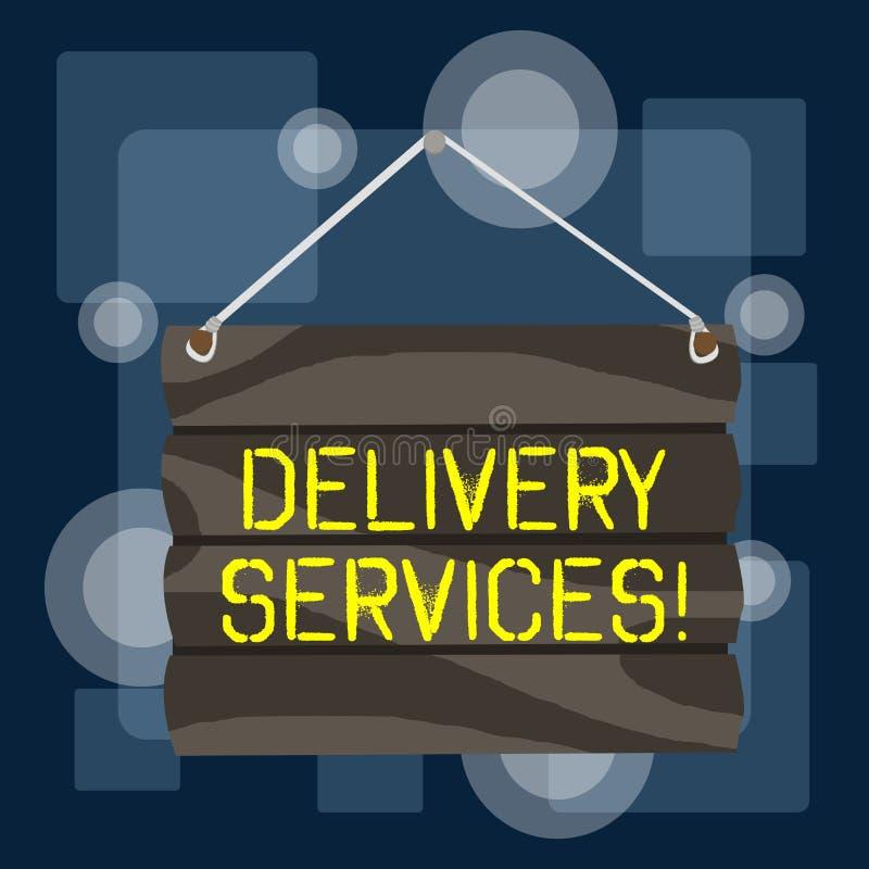 写送货服务的手写文本 意味项目的运输在两个或多个党之间的概念联接 库存例证