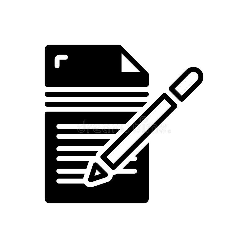 写,编辑和作家的黑坚实象 皇族释放例证