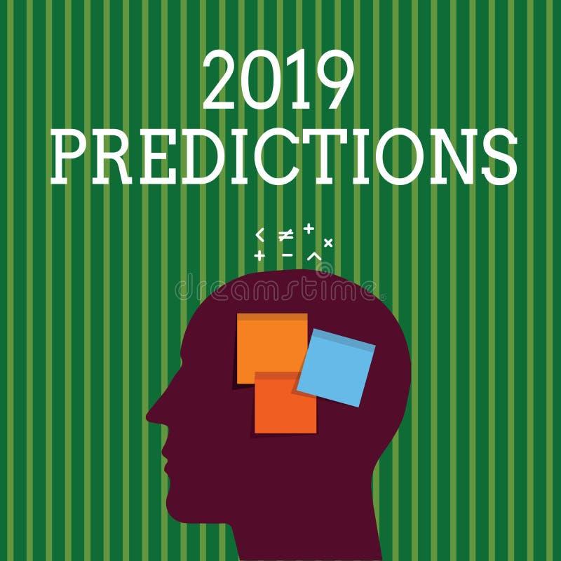 写2019个预言的手写文本 概念您认为去发生,不用证明的意思明细表 向量例证