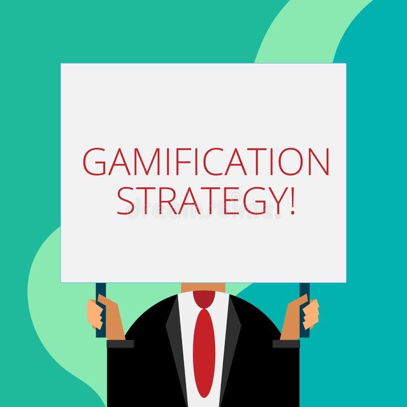 写Gamification战略的手写文本 意味刺激的概念用途奖励集成比赛机械工 皇族释放例证