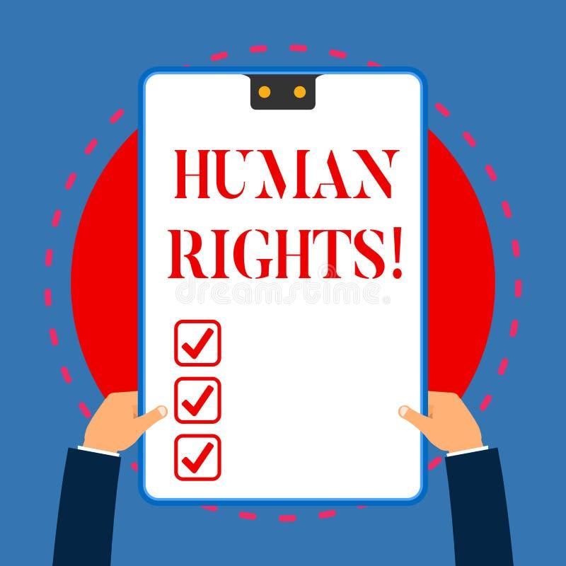 写Huanalysis权利的手写文本 意味战斗的平等的概念为白色您的权利的个性 皇族释放例证