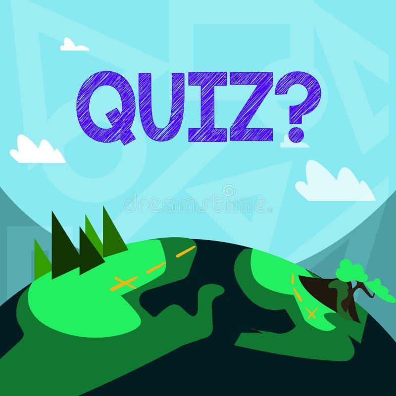 写Quizquestion的手写文本 定量您的知识的概念意思短的测试评估考试 向量例证