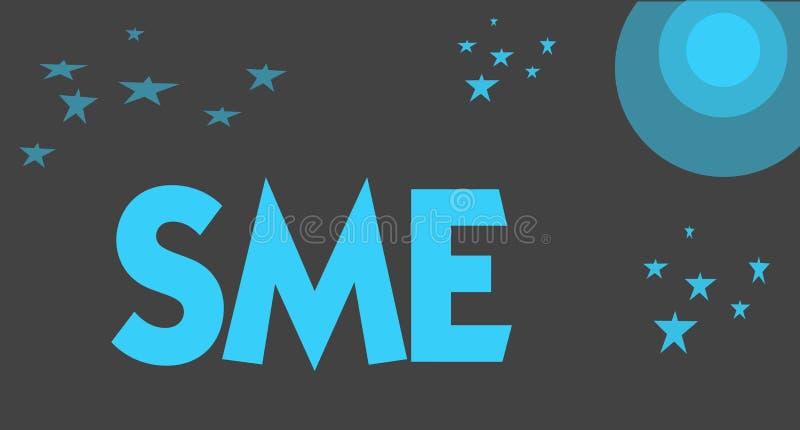 写Sme的手写文本 概念与不大于500位雇员小中等企业的意思公司 向量例证