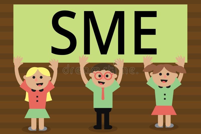 写Sme的手写文本 概念与不大于500位雇员小中等企业的意思公司 皇族释放例证