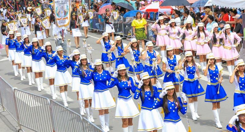 军乐队女队长indipendence天巴拿马的游行 免版税库存照片
