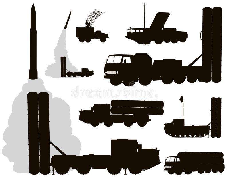 军事。防空 库存例证