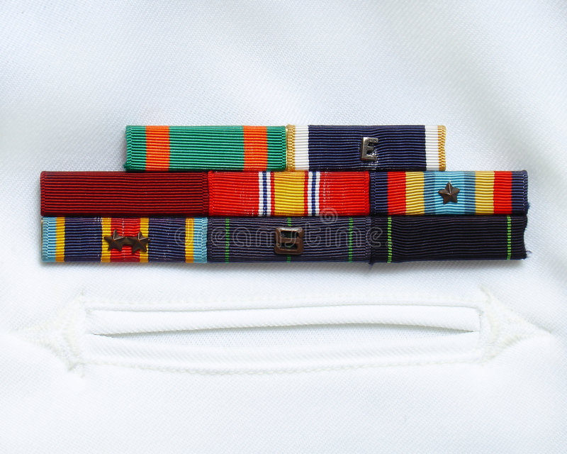 军事丝带 免版税库存照片