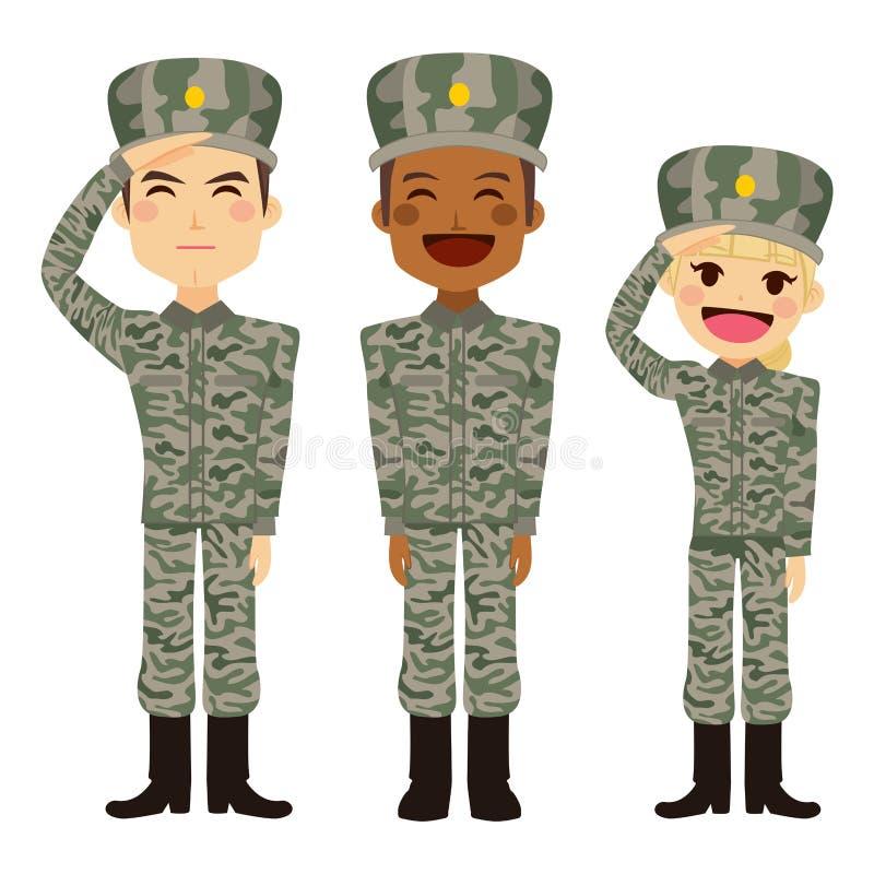 军事人民 库存例证