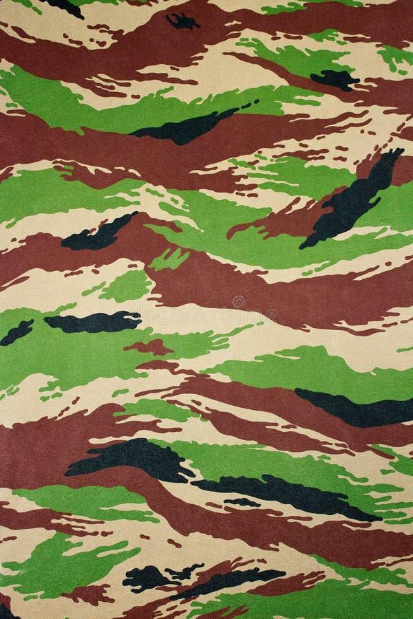 军事伪装布料 免版税库存图片