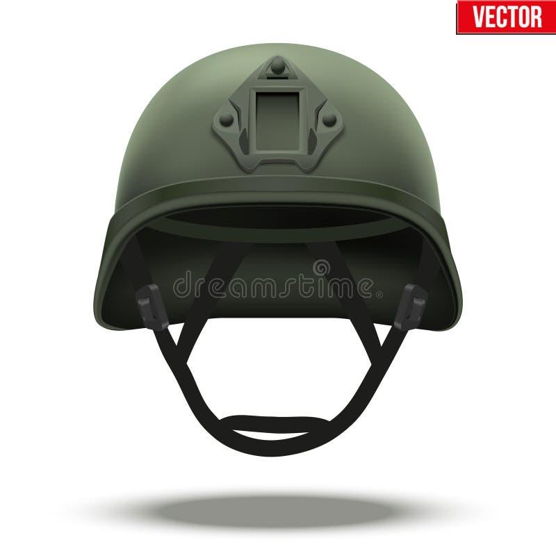 军事作战盔甲绿色 皇族释放例证