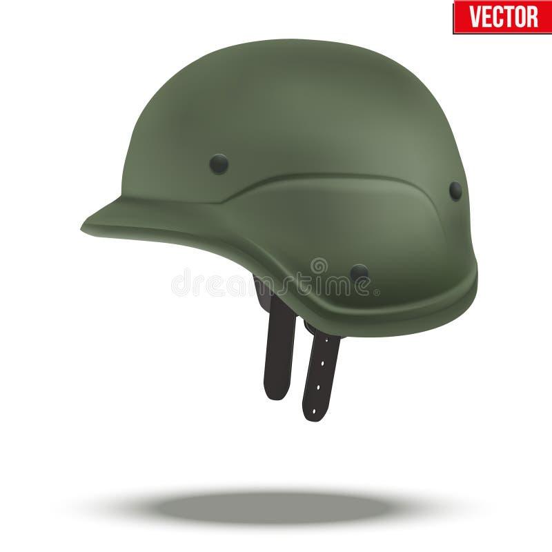 军事作战盔甲绿色 向量例证