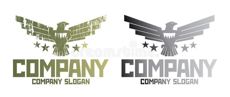 军事公司的符号。 皇族释放例证