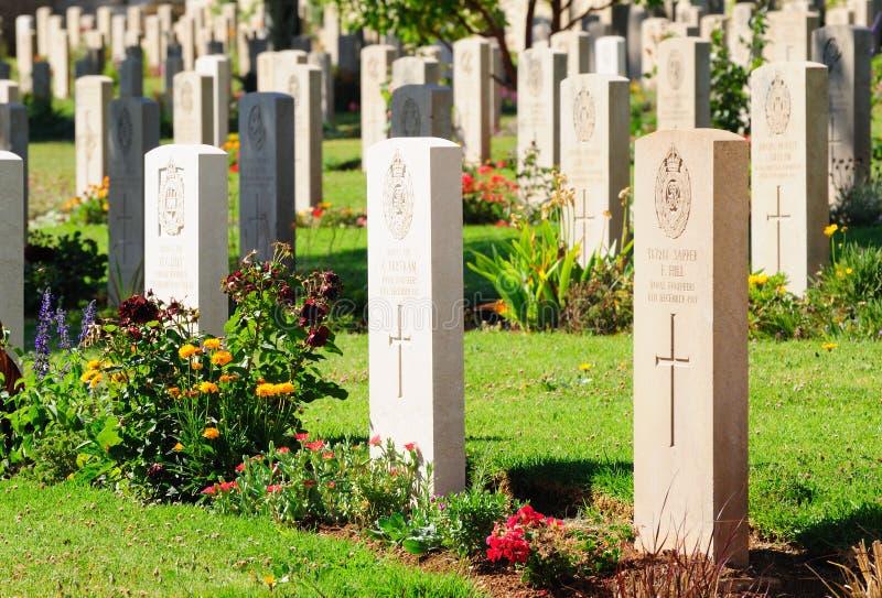 军事公墓。 库存图片