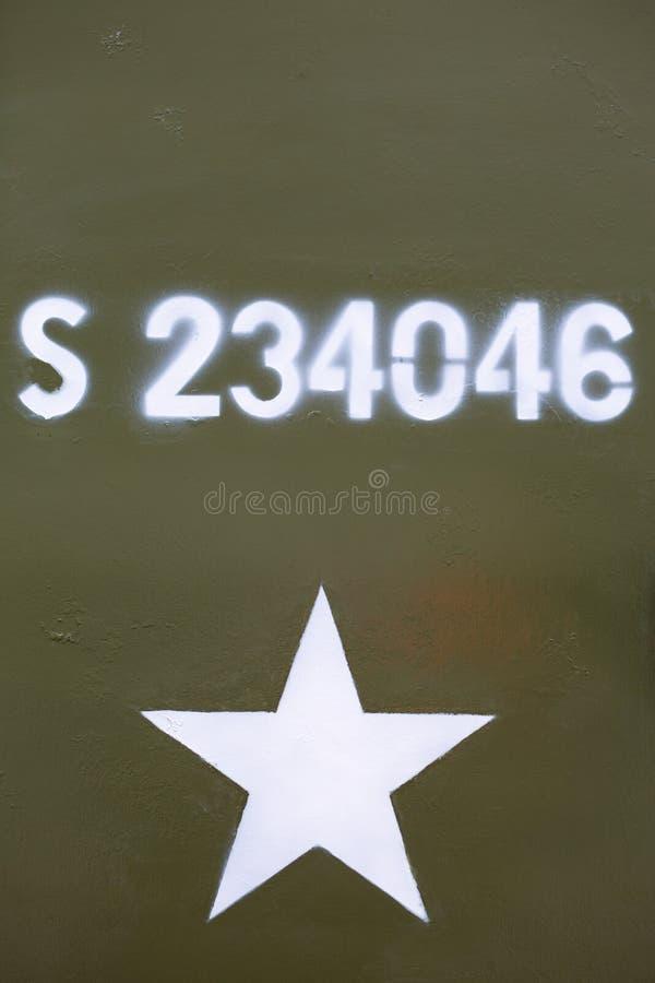 军事军队星背景 免版税库存图片