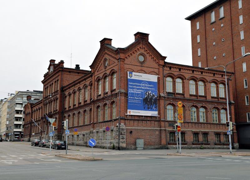 军事博物馆的大厦在赫尔辛基 库存照片