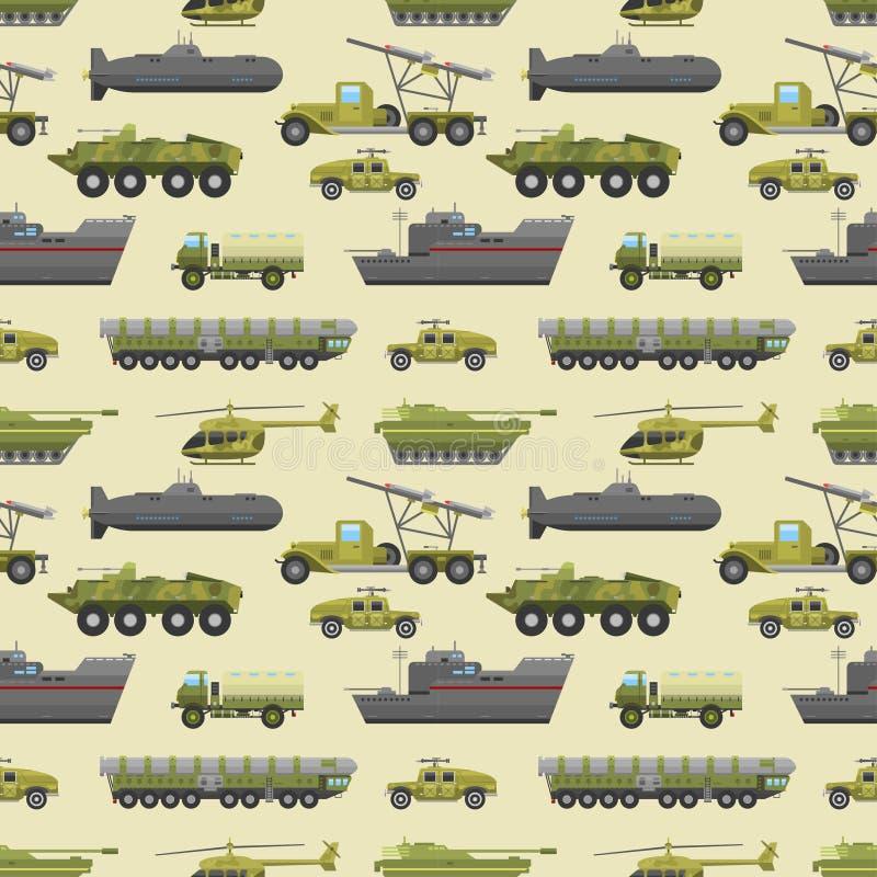 军事卡车样式 库存例证