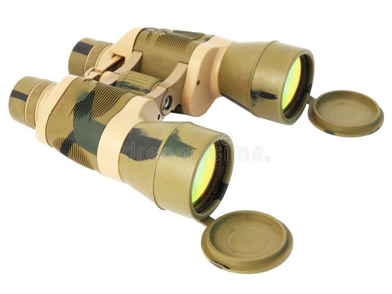 军事双筒望远镜 库存图片