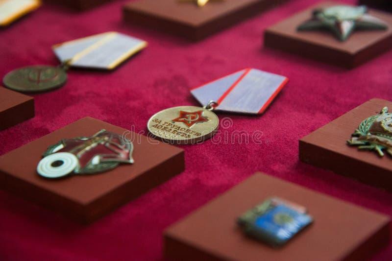 军事命令和军事奖牌 免版税图库摄影