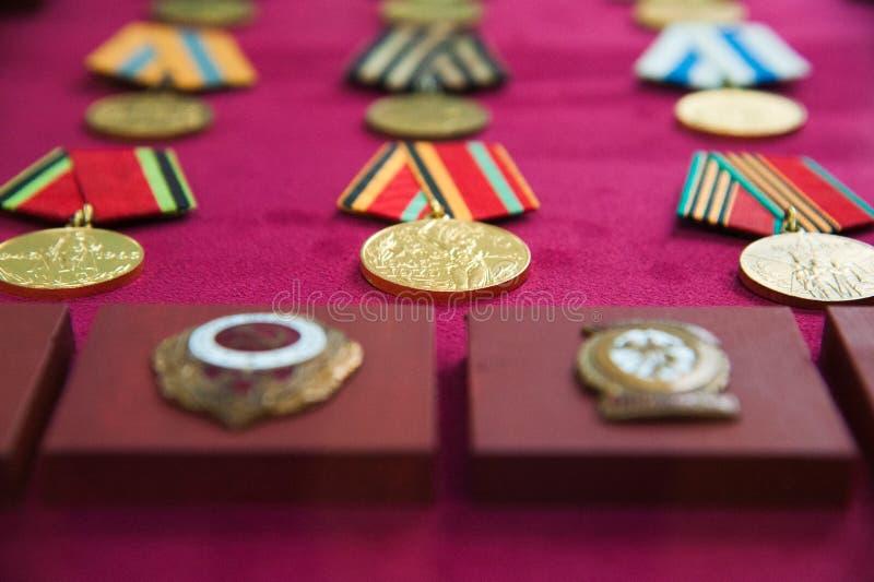 军事命令和军事奖牌 库存图片