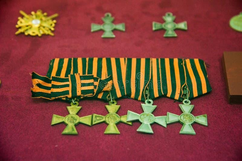军事命令和军事奖牌 库存照片