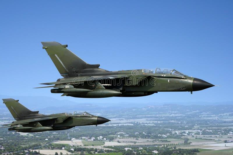 军事喷气式歼击机 库存图片